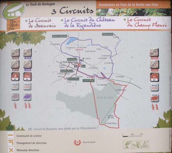 Carte Bretagne Randonnee.Sentiers De Randonnees Le Theil De Bretagne